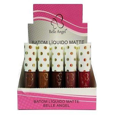 Batom Liquido Matte Belle Angel A002 - Box c/ 20 unid