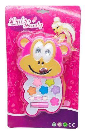 Brinquedo Infantil Little Beauty Kit Maquiagem p/ Bonecas Macaquinho BAR-30333M