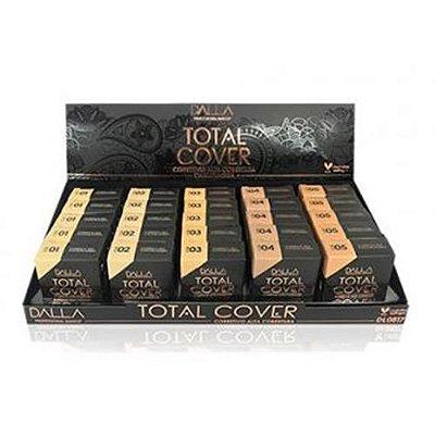 Corretivo Camuflagem Total Cover Cor 01 ao 05 Dalla DL0816 – Box c/ 25 unid