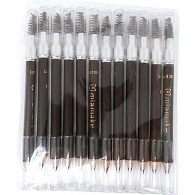 Lápis Universal para Sobrancelhas com Escova Mia Make 234/232 - Pcte c/ 12 unid