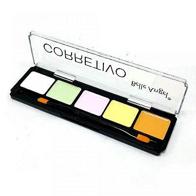 Paleta Corretivo Colorido Facial 5 Cores Belle Angel B010-1