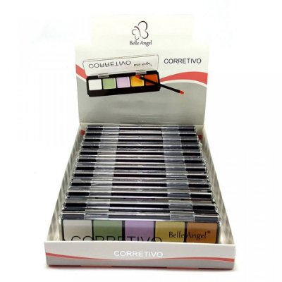 Paleta Corretivo Colorido Facial 5 Cores Belle Angel B010-1 - Box c/ 12 unid