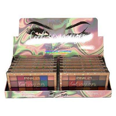 Paleta de Sombras Cool Sexy Eyes Pink 21 Cosmetics CS2451 – Box c/ 12 unid