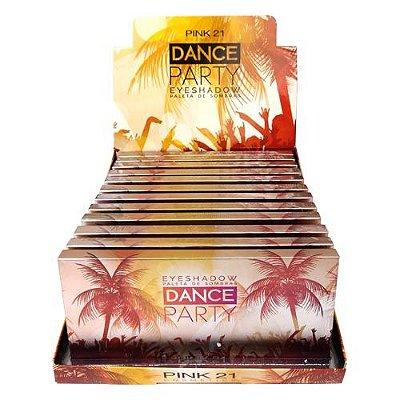 Paleta de Sombras Dance Party Pink 21 Cosmetics CS2326 – Box c/ 12 unid
