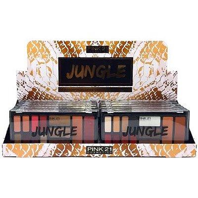 Paleta de Sombras Jungle Pink 21 Cosmetics CS2431 – Box c/ 12 unid