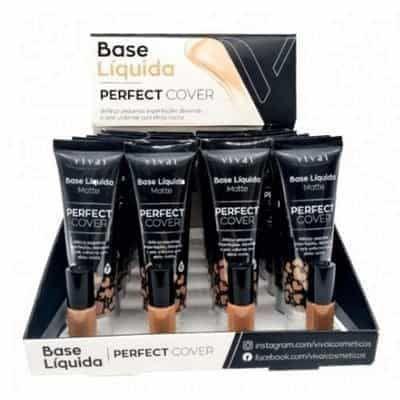 Base Líquida Matte Perfect Cover Cor 09 ao 12 Vivai 1091.4.1 - Box c/ 24 unid