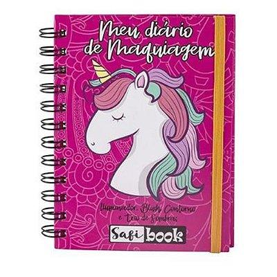 Paleta Meu Diário de Maquiagem Safi Book Unicórnio Safira – Kit c/ 06 unid