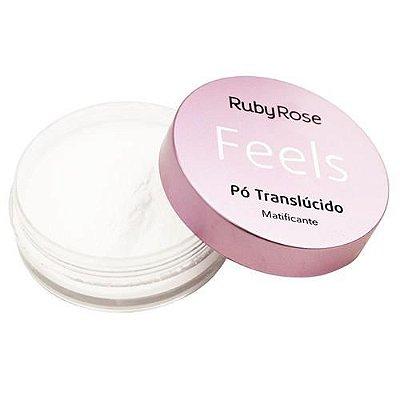Pó Translúcido Matificante Feels Ruby Rose HB-7224