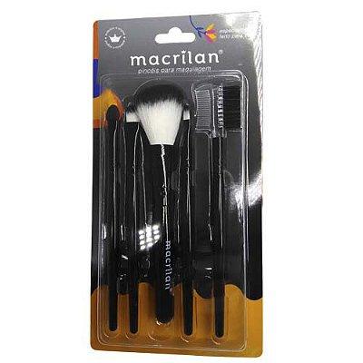 Kit Pincéis para Maquiagem Macrilan KP3-1