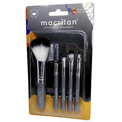 Kit Pincéis para Maquiagem Macrilan KP5-18