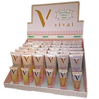 Base Líquida Matte Vegana Vivai 1056.4.1- Box c/ 36 unid