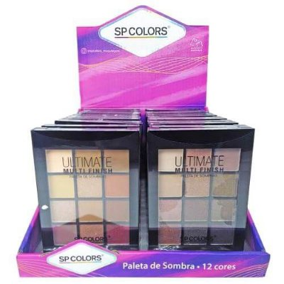 Paleta de Sombras Ultimate Multi Finish SP Colors SP050 – Box c/ 24 unid