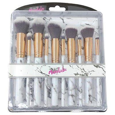 Kit com 10 Pincéis para Maquiagem Mandala PM-020