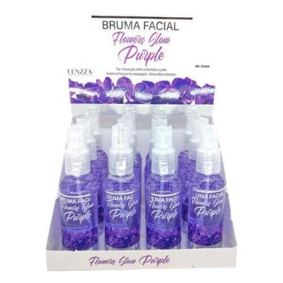 Bruma Facial Flowers Glow Purple Fenzza FZ33015 – Box c/ 12 unid