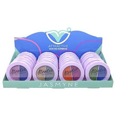 Duo de Sombras Attractive Jasmyne JS06050 - Box c/ 24 unid