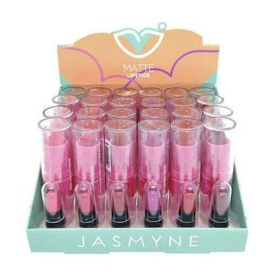 Batom Bastão Matte Lipstick Jasmyne JS06039 – Box c/ 24 unid