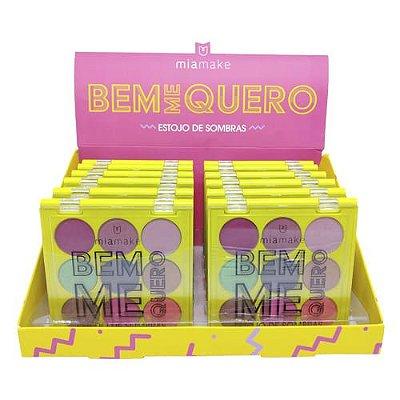 Paleta de Sombras Bem Me Quero Mia Make 242 - Box c/ 12 unid