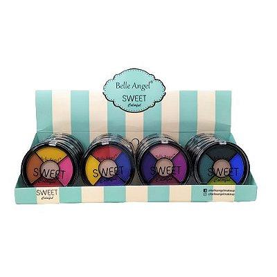 Paleta de Sombras Sweet Colorful Belle Angel B078 - Box c/ 24 unid