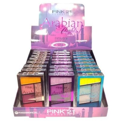 Paleta de Sombras Arabian Nights Pink 21 Cosmetics CS2778 - Box c/ 24 unid