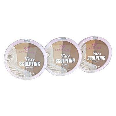 Corretivo Face Sculpting Vegan Jasmyne JS08012 - Kit c/ 03 unid