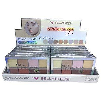 Paleta de Iluminador Chic Bella Femme BF10061 – Box c/ 12 unid