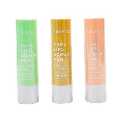 Esfoliante Labial Care Lips Scrub Fun Ruby Rose HB-8526 - Kit c/ 06 unid