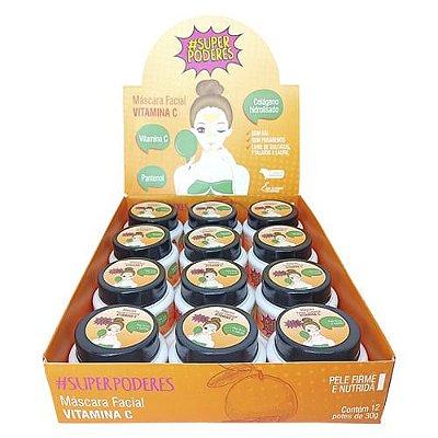 Máscara Facial Vitamina C Super Poderes VMCSP01 - Box c/ 12 unid