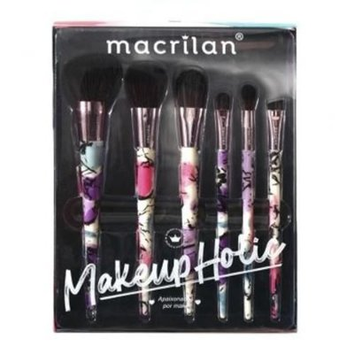 Kit com 6 Pincéis para Maquiagem Makeupholic Macrilan ED008
