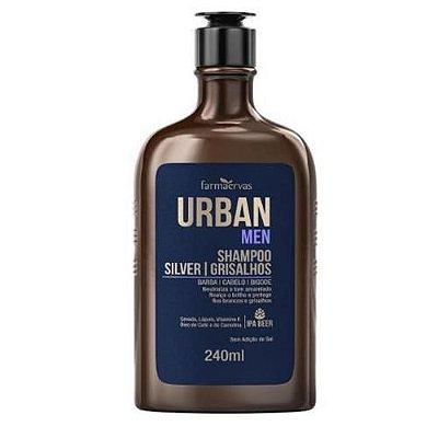 Shampoo Silver Grisalhos Urban Men IPA Farmaervas