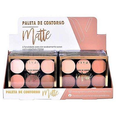 Paleta de Contorno Matte Nude Perfeito Vivai 1058 – Box c/ 12 unid
