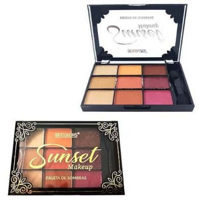 Paleta de Sombras Sunset SP Colors SP154