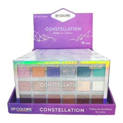 Paleta de Sombras Constellation 18 cores SP Colors SP240 – Box c/ 12 unid