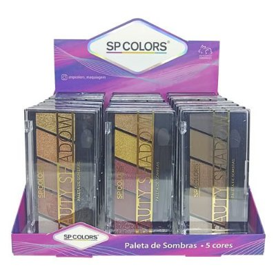 Paleta de Sombras Beauty Shadow SP Colors SP159 – Box c/ 24 unid