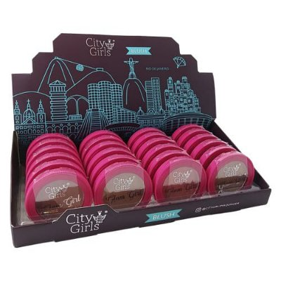 Blush Facial Glam Girl City Girls CG203 – Box c/ 24 unid