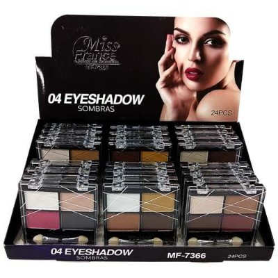 Paleta de Sombras Miss France MF-7366 – Box c/ 24 unid