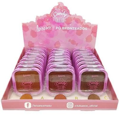 Pó Bronzeador Candy Collection Luisance L671 – Box c/ 24 unid