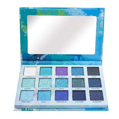 Paleta de Sombras Spotlight Eyeshadow Blue Luisance L2037