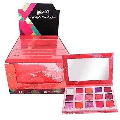 Paleta de Sombras Spotlight Eyeshadow Red Luisance L2037 – Box c/ 12 unid