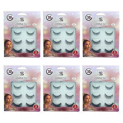 Kit de Cílios Postiços Magnéticos 3D-F001 Sabrina Sato SS-1236 – Kit c/ 06 unid