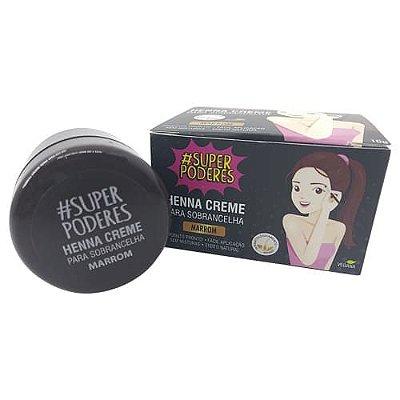 Henna Creme para Sobrancelha Marrom Super Poderes CRMSP01