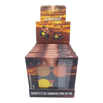 Quarteto de Sombras Por do Sol Ludurana B00027 – Box c/ 12 unid