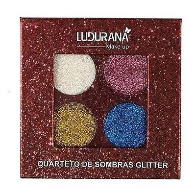 Quarteto de Sombras Glitter Ludurana B00031