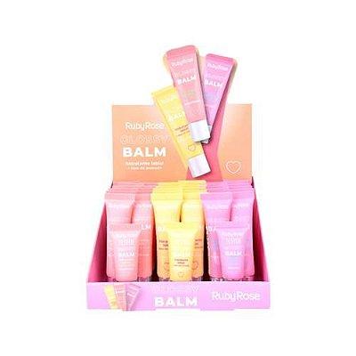 Glossy Balm Hidratante Labial Ruby Rose HB-8222 – Box c/ 36 unid