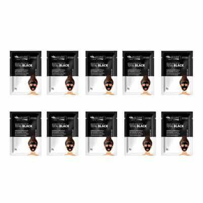 Máscara Facial Peel Off Total Black Max Love - Pcte c/ 10 unid