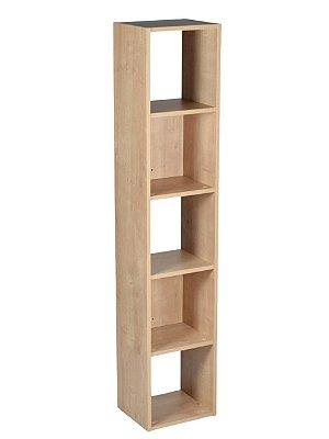 Estante para Livros Falkk Torre 5 nichos Amadeirada