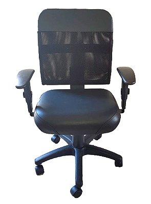 Cadeira de escritório Diretor com encosto de Tela e base backsystem