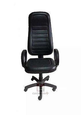 Cadeira de escritório Presidente Extra com base giratória preta