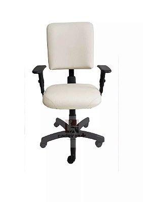 Cadeira de escritório Digitador Executiva com base giratória backsystem