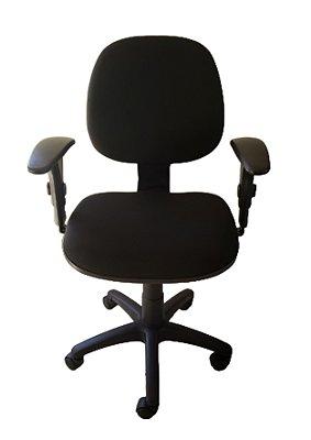 Cadeira de escritório Digitador em tecido J. Serrano preto com base giratória secretária