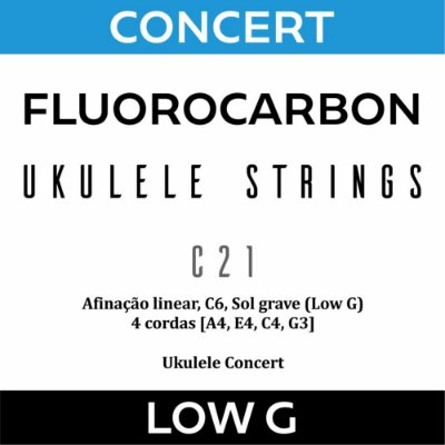 Encordoamento Ukulele Concert Low G C21